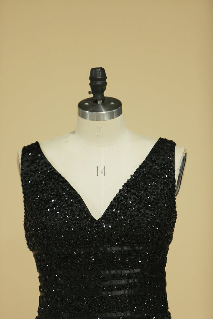 Prom Dresses V Neck With Beading
