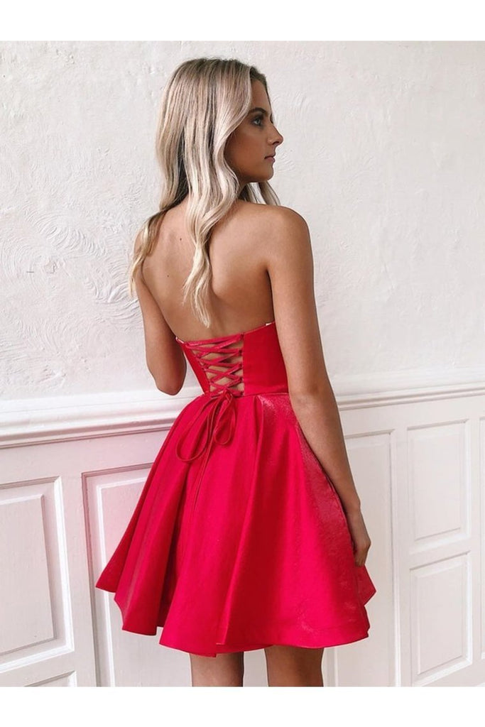 Sweetheart Neck Short R Homecoming Graduation Dresses Lace Up