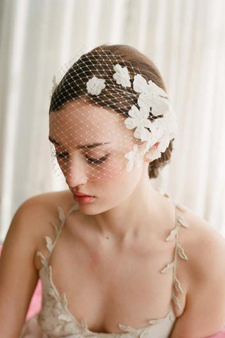 Pretty Pearl/Lace Ladies' Hair Jewelry #SP005