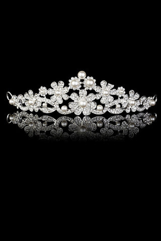 Beautiful Alloy/Pearl Tiaras #SP001