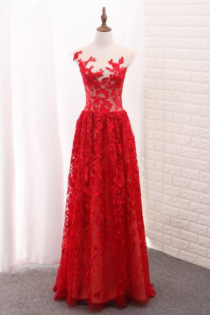 2021 Off The Shoulder Lace Prom Dresses A Line Floor