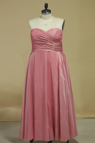 2021 Plus Size Bridesmaid Dress A Line Sweetheart With Ruffles