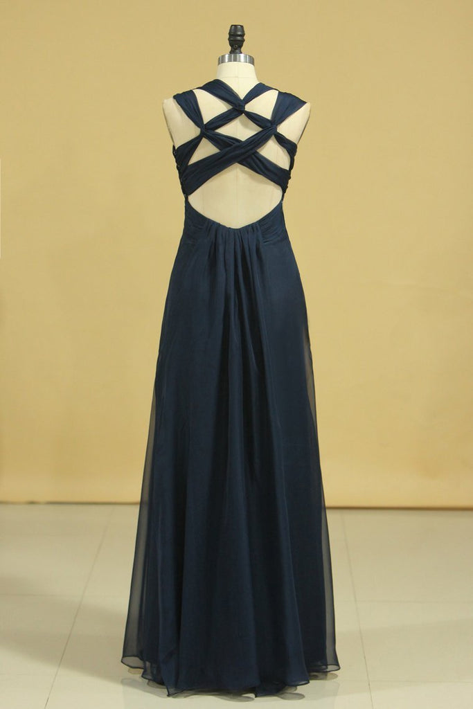 2021 Popular Prom Dresses A Line Floor Length Halter
