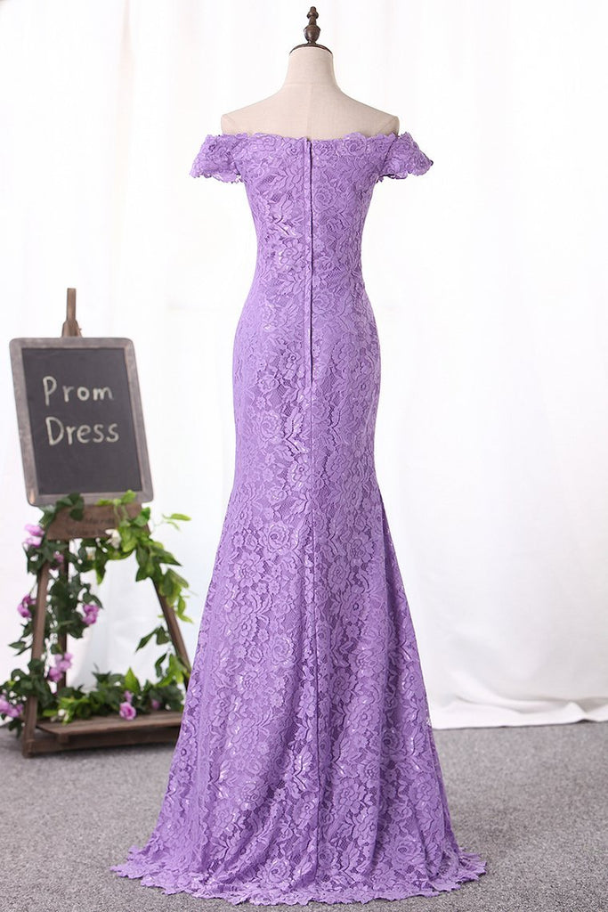 2021 New Arrival Off The Shoulder Lace Mother Of The Bride Dresses Floor
