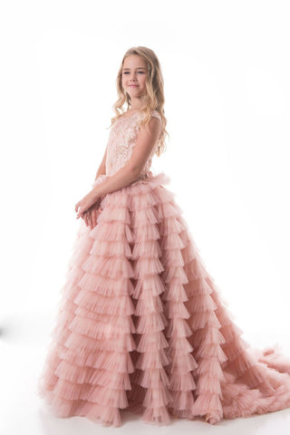 2019 Tulle Scoop With Beads Flower Girl Dresses A Line Sweep