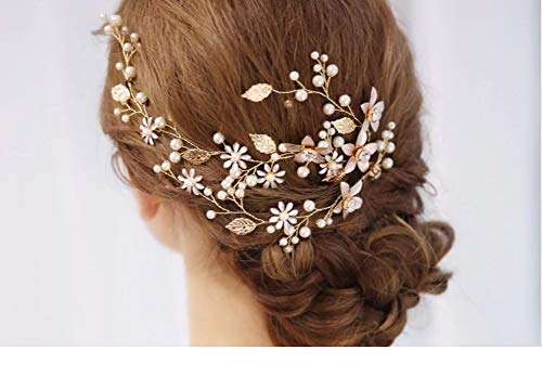 Classic Alloy/Rhinestones With Pearl Bridal Hair Jewelry #SP022