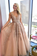 Charming A Line V Neck Beads Tulle Prom Dresses With Appliques, Floor Length Formal