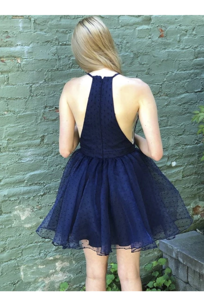 Halter Simple Mini Short Homecoming Dresses