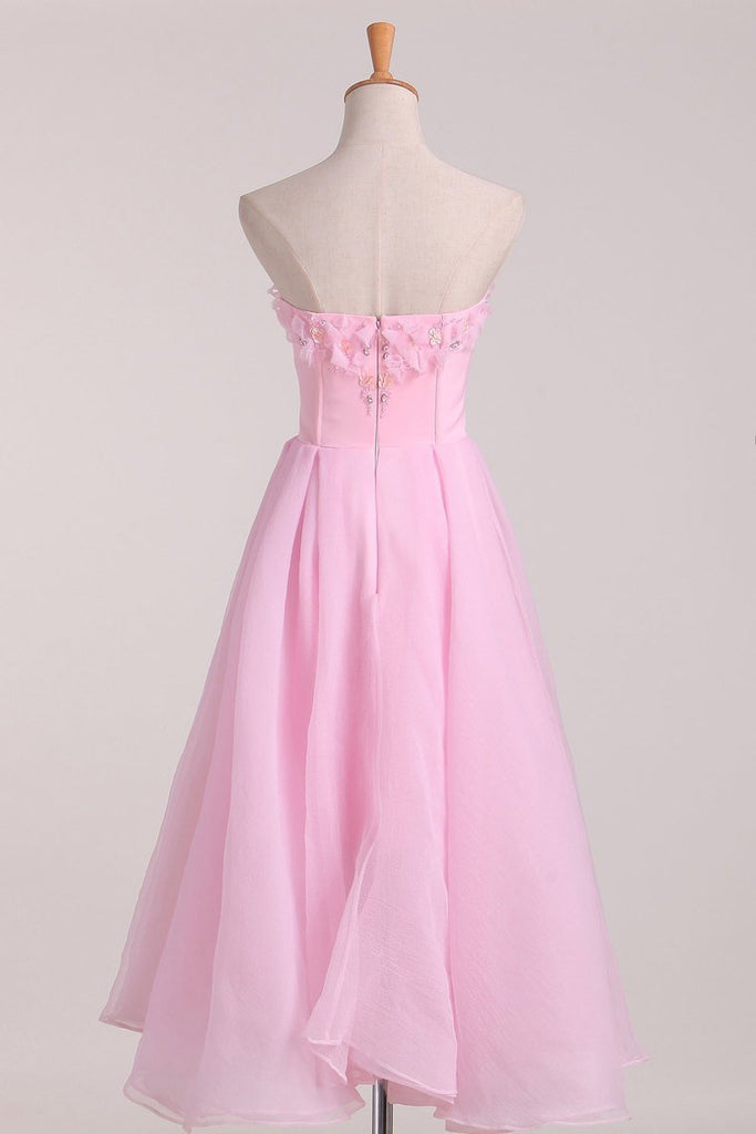 2021 Homecoming Dresses A Line Sweetheart Chiffon With Beading