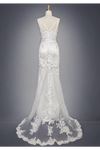 Tulle Appliques Wedding Dresses V Neck Sweep