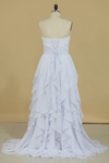 2020 New Arrival A Line Sweetheart With Ruffles And Beads Bridesmaid Dresses