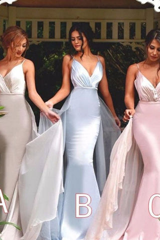 2020 Hot Selling Bridesmaid Dresses Mermaid Spaghetti Straps
