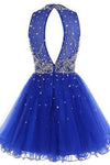 Short Tulle Beading Homecoming Dress Prom Gown SME214