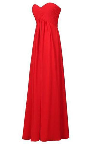 Sweetheart Bridesmaid Chiffon Prom Dress Long Evening Gown Blush SME235
