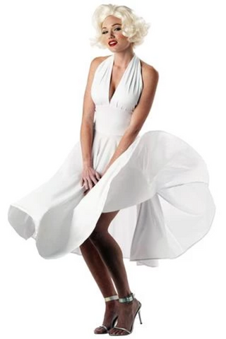 A Line Sexy White Halter Sleeveless Knee Length Homecoming