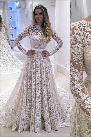 Long Sleeve Lace Fashion Bridal Dress Sexy Custom Made Evening Dress Prom Dresses JS754