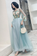 Elegant Long Sleeves Appliqued Tulle Prom Dress, Floor Length Appliques Evening
