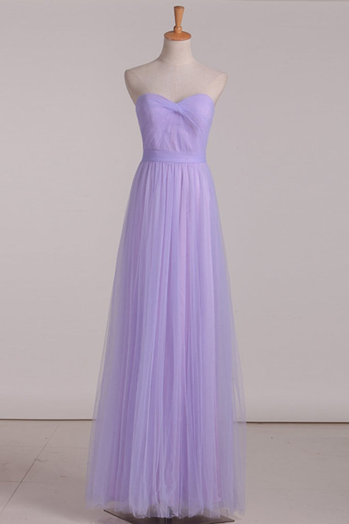 2021 Chiffon With Ruffles Bridesmaid Dresses Sweetheart Floor Length A Line
