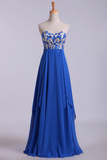 2019 Prom Dresses Seetheart Princess With Embroidery Floor Length