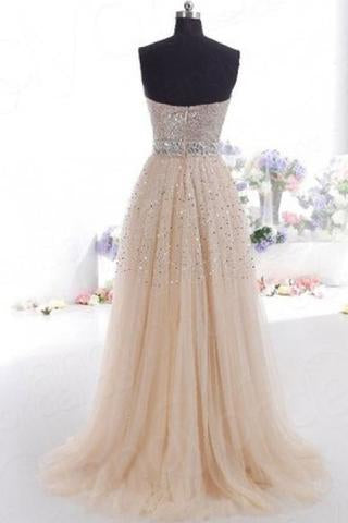 Hi Girls Exquisite Sweetheart Tulle Long Prom Dresses 2021 Party Gowns JS771