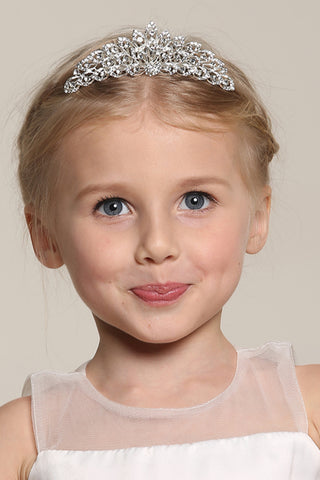Classic Alloy With Rhinestone Flower Girl Tiaras
