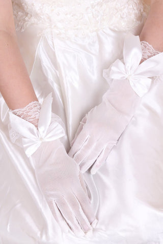 2021 Beautidul Tulle Wrist Lengh Bridal Gloves #BG15
