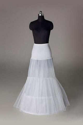Women Nylon/Tulle Netting Floor Length 2 Tiers Petticoats SME0014