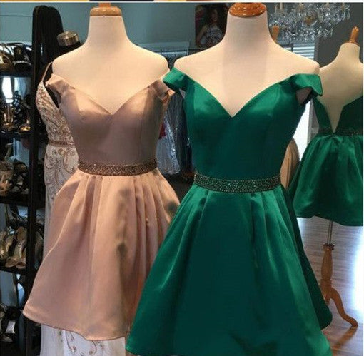 Satin With Pockets Homecoming Dresses