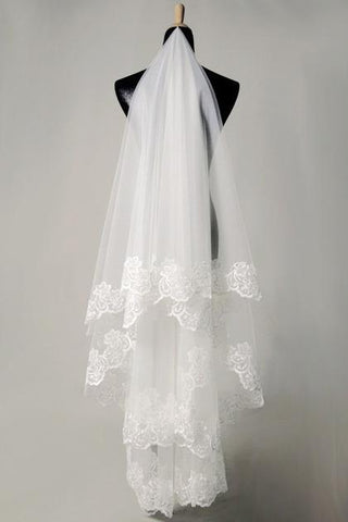 Bridal Veils With Applique JS0016