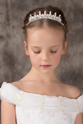 Beautiful Flower Girl Alloy Tiaras With Pearl