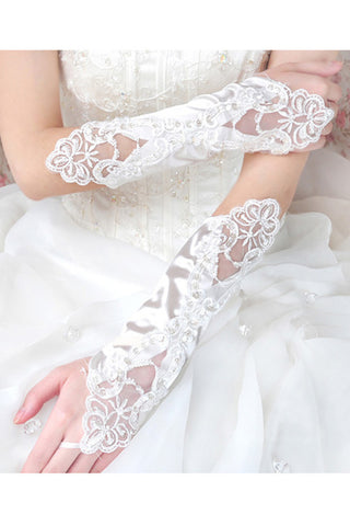 lbow Length Bridal Gloves, Bridal Accessories #BG17
