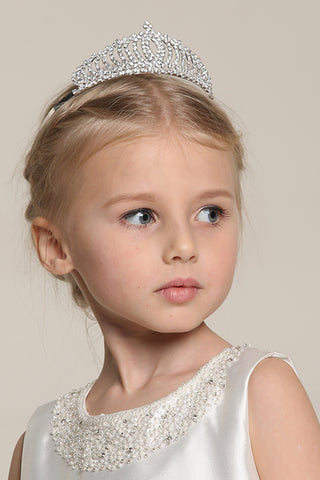 Pretty Cubic Zirconia Wedding Flower Girl Tiaras