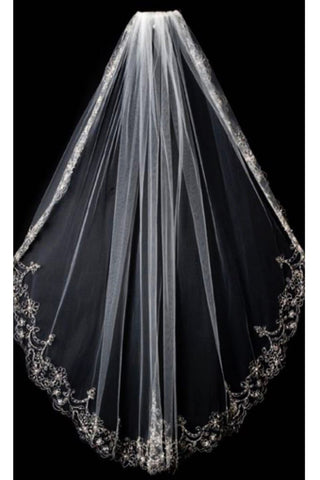 2021 Wedding Veil With Embroidery