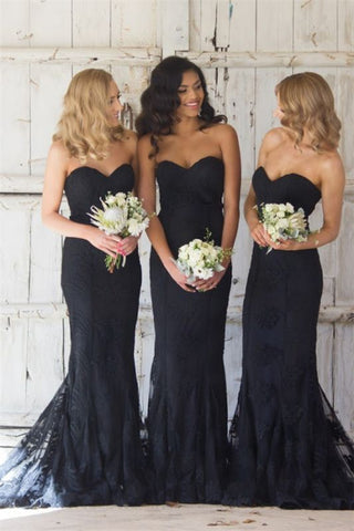 Sweetheart Pretty 2021 Cheap Bridesmaid Dresses Lace Sexy Maid Of Honor Dresses Online