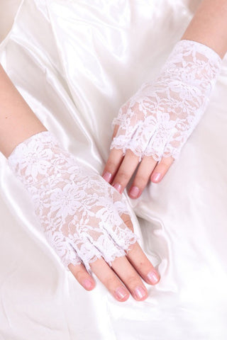 Cheap Lace Wrist Length Bridal Gloves #BG08
