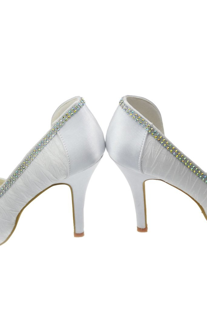 Fashion Comfy Simple Beading Handmade Wedding Shoes For Women SME0007