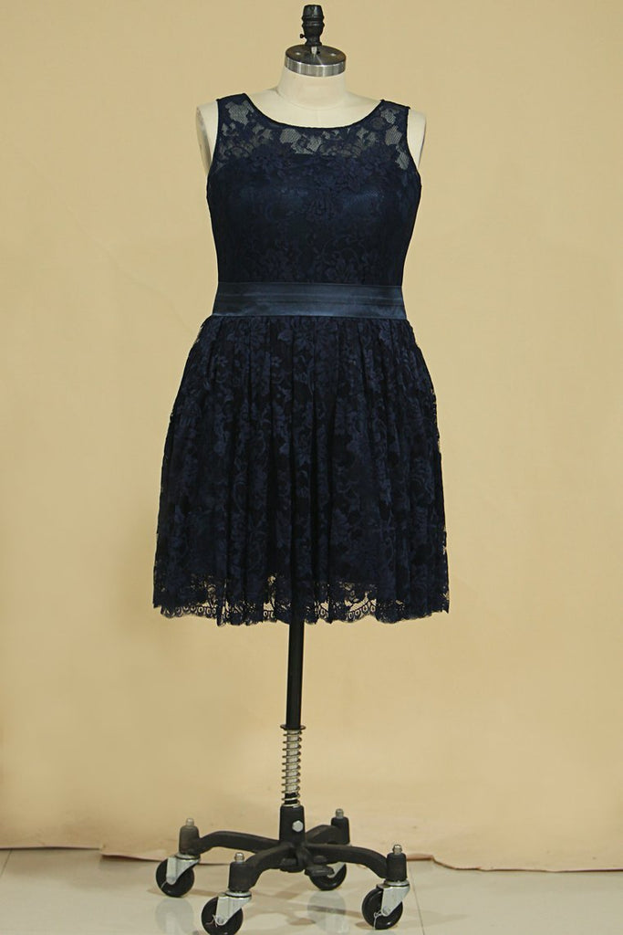 2020 Lace Homecoming Dresses Scoop Short/Mini