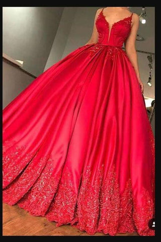 2020 Spaghetti Straps Prom Dresses Satin A Line With PSNHX2MT