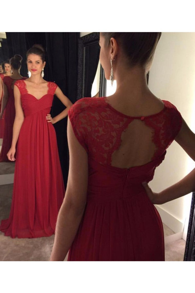 2020 Chiffon Evening Dresses A Line Straps Open Back With Ruffles Sweep