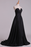 2020 Ball Gown Prom Dresses Sweetheart Sweep/Brush Taffeta Zipper Back