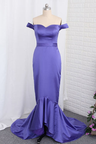 2021 Bridesmaid Dresses Mermaid Off The Shoulder Satin With