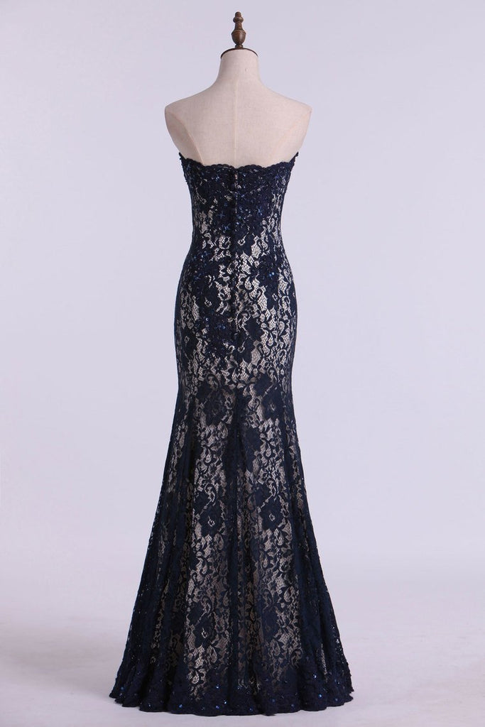 2020 Mother Of The Bride Dresses Strapless Mermaid Floor Length Lace
