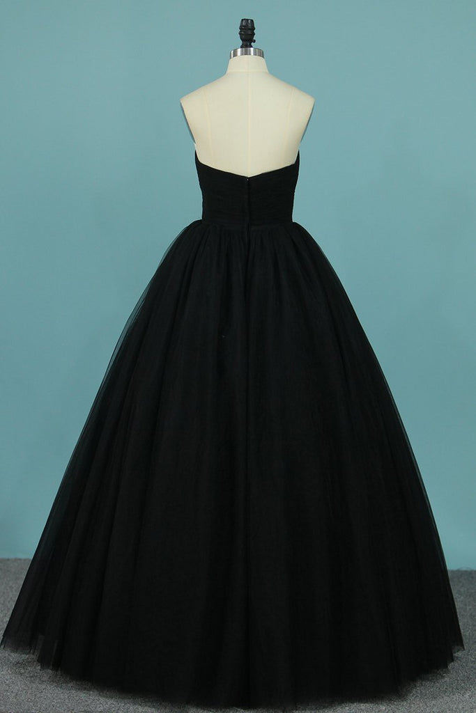 2021 New Arrival Tulle Prom Dresses Strapless A Line With