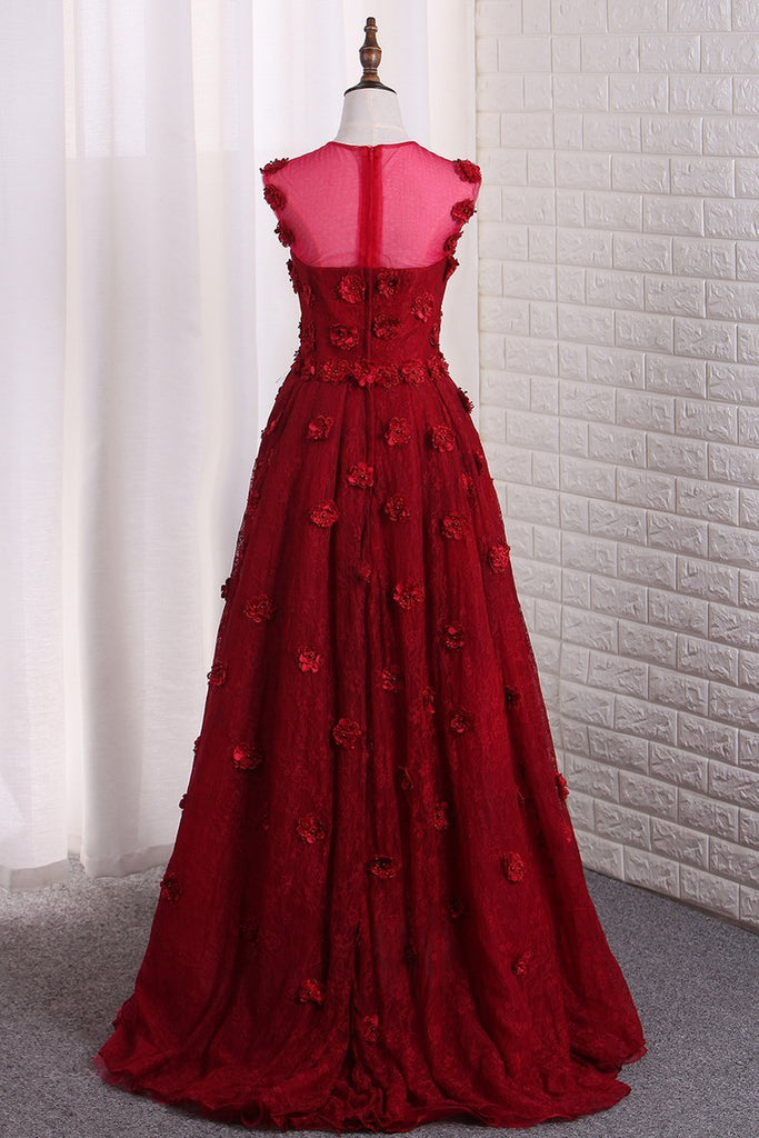 2019 Sweetheart Lace Asymmetrical Prom Dresses With