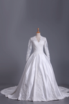 Wedding Dresses A Line V Neck Long Sleeves With Applique