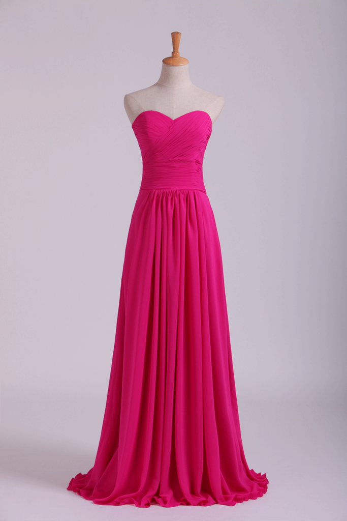 2019 Sweetheart Bridesmaid Dresses A-Line Floor Length Chiffon