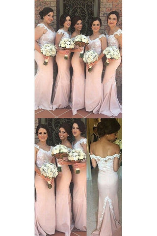 2020 Mermaid Off The Shoulder Bridesmaid Dresses With