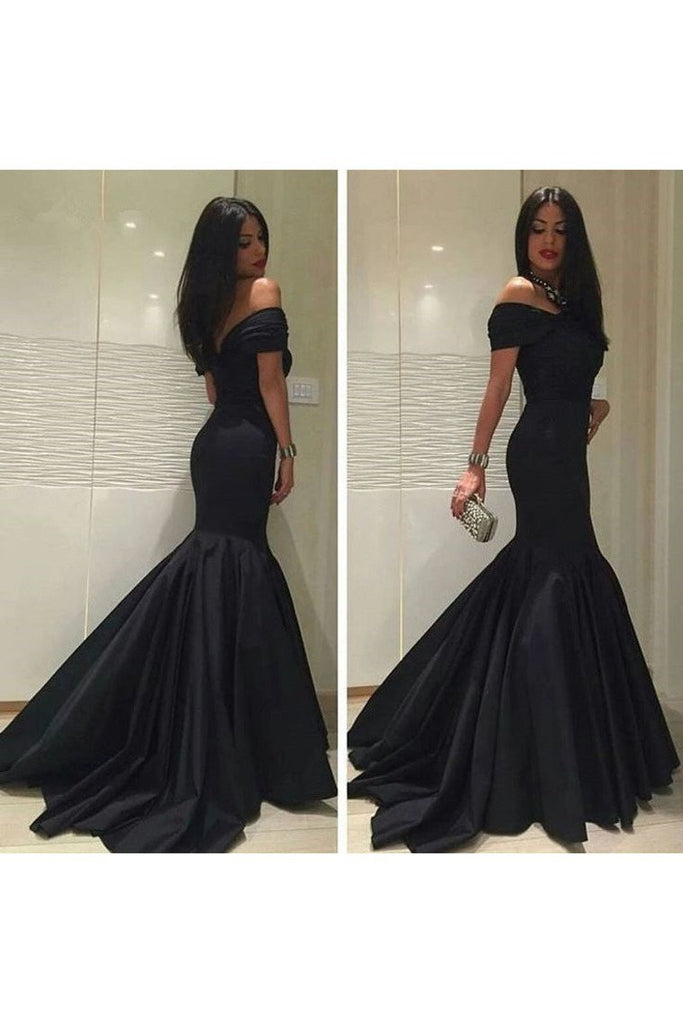 2021 Off The Shoulder Mermaid Evening Dresses With Ruffles