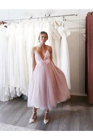 Prom/Homecoming Dress Spaghetti Straps Tulle A Line With