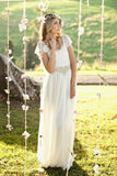 2020 A Line Wedding Dresses Chiffon & Lace With